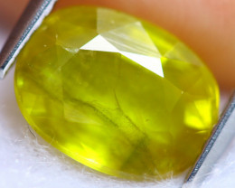 3.54cts Natural Yellow Colour Sapphire / RD1460
