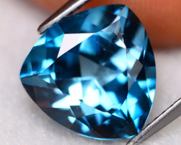 London Blue Topaz 7.12Ct VVS Trillion Cut Natural London Blue Topaz A2901