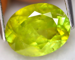 Sphene 3.34Ct Oval Cut Natural Madagascar Vivid Color Sphene A1419