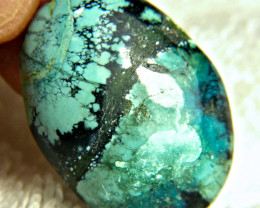 72.0 Ct. Himalayan Turquoise Cabochon - Gorgeous