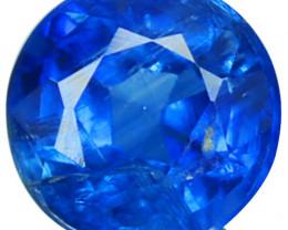 1.37 Cts Natural Royal Blue Kyanite 6.4mm Round Cut Nepal
