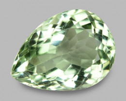 12.83 Cts Amazing Rare  Natural Green Amethyst Loose Gemstone