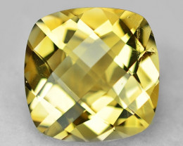 9.53 Cts Amazing Rare Checker Board  Yellow Color Natural Citrine Gemstone