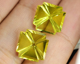 12.70 Cts 2pcs Amazing Rare Yellow Color Natural Lemon Quartz Loose Gemston