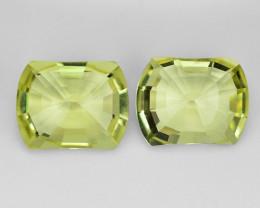 9.45 Cts 2pcs Amazing Rare Fancy Yellow Color Natural Lemon Quartz