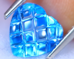 2.28cts Natural AAA Swiss Blue Colour Topaz / RD1385