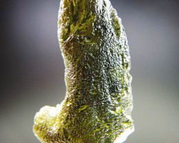 Big Natural Raw Moldavite with CERTIFICATE