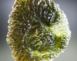 CERTIFIED Big Moldavite with rare features