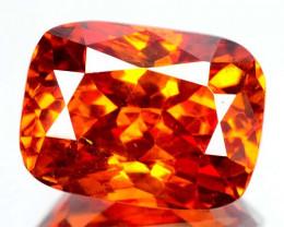 4.51 Cts Unheated Natural Sphalerite Sunset Orange Cushion Cut Spain