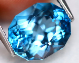 London Blue Topaz 4.45Ct VVS Precision Cut Natural London Blue Topaz B3010