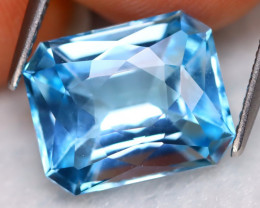 Swiss Blue Topaz 7.24Ct VVS Perfect Cut Natural Swiss Blue Topaz B3014