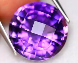 Uruguay Amethyst 11.14Ct VVS CheckerBoard Natural Purple Amethyst B3024