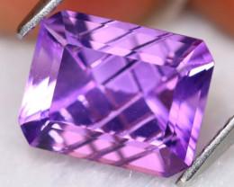 Amethyst 3.21Ct VVS Designer Cut Natural Bolivian Purple Amethyst B3028