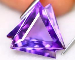 Amethyst 9.17Ct VVS Designer Cut Natural Bolivian Purple Amethyst B3037