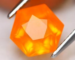 Fire Opal 2.36Ct VVS Master Cut Natural Orange Mexican Fire Opal C3014