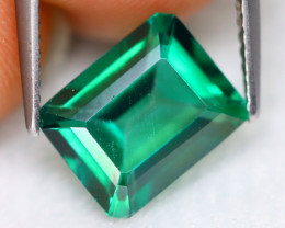 Green Topaz 3.94Ct VVS Octogon Cut Natural Vivid Leaf Green Topaz C3018