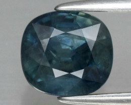 1.80 ct 6.8x6.3mm Cushion Natural Greenish Blue Sapphire Australia