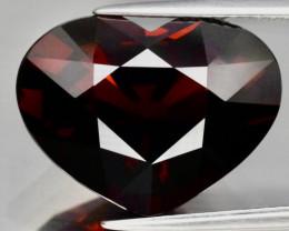 Big! 14.66 ct 16.8x13 mm VVS Heart Natural Orangish Red Spessartite Garnet