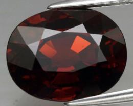 Attractive! 6.31 ct 11.5x9.2mm VS Oval Natural Orangish Red Spessartite Gar