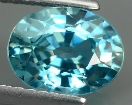 2.60 CTS EXTREME OVAL NATURAL TOP BLUE ZIRCON EXCELLENT!!
