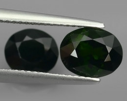 3.10  CTS GLITTERING MOZAMBIQUE RARE NATURAL DARK TOURMALINE 2 PCS!!
