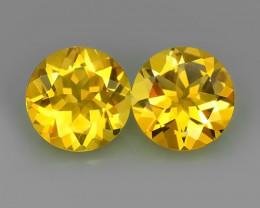 6.45 Cts Ravishing Natural Golden~Yellow Citrine Round Cut Gemstone!!