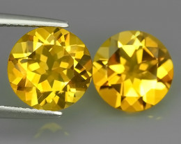 6.01 Cts Ravishing Natural Golden~Yellow Citrine Round Cut Gemstone!!