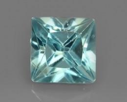1.75 CTS~FINE QUALITY_LUSTROUS - NATURAL BLUE ZIRCON - PRINCESS _CUT NR!!