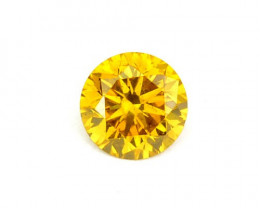 ~SPARKLING~ 0.09 Cts Natural Diamond Vivid Yellow 2.80mm Round Africa