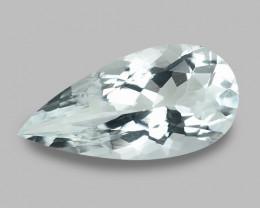 3.06 Cts Un Heated  Sky Blue Color Natural Aquamarine Loose Gemstone