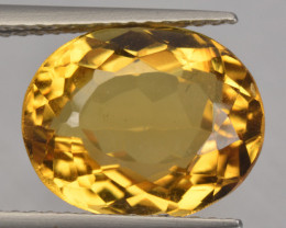 5.07 CTS NATURAL RARE GOLDEN YELLOW BERYL GEMSTONE