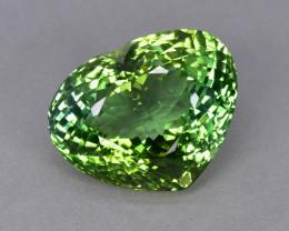 24.74 Cts Mesmerizing Beautiful Heart Shape Natural Green Tourmaline