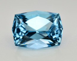 13  Ct Amazing Color Natural Blue Topaz ~ Swiss