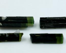 29.75 Cts Natural & Unheated Green Cap Tourmaline Crystal Lot