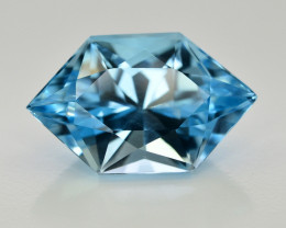 13.55  Ct Amazing Color Natural Blue Topaz ~ Swiss