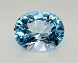 11.25  Ct Amazing Color Natural Blue Topaz ~ Swiss