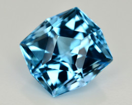 13.95 Ct Amazing Color Natural Blue Topaz ~ Swiss