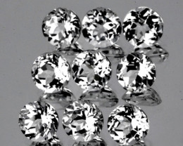 5.00 mm Round 9 pcs 5.74cts White Topaz [VVS]