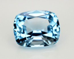 15.55  Ct Amazing Color Natural Blue Topaz ~ Swiss