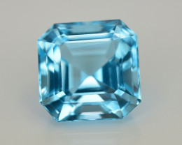 10.95 Ct Amazing Color Natural Blue Topaz ~ Swiss