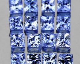 2.00 mm Square Princess 16 pcs 0.91ct Light Blue Sapphire [VVS]