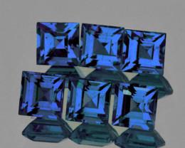 2.60 mm Square 6 pieces Blue Sapphire [VVS]