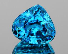 9.5x8.5 mm Pear 4.55cts Blue Zircon [VVS]