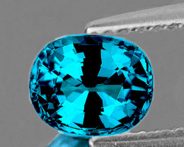 9.5x8 mm Oval 5.05cts Blue Zircon [VVS-VS]