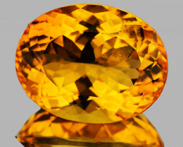 22x17mm Oval 26.42cts Golden Orange Citrine [VVS]