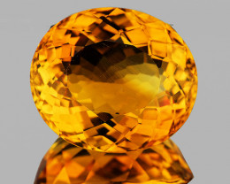 20.5x18mm Oval 26.23cts Golden Orange Citrine [VVS]