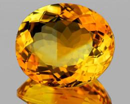 21.5x19mm Oval 25.45cts Golden Orange Citrine [VVS]