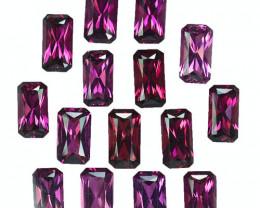 31.32 Cts Natural Rose Garnet Radiant Cut 15Pcs Parcel Mozambique
