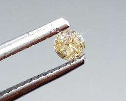 0.13ct Light Brown   Diamond , 100% Natural Untreated