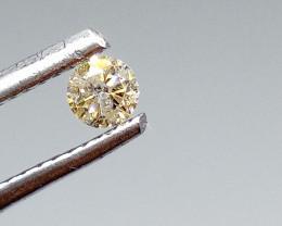 0.14ct Faint Brown  Diamond , 100% Natural Untreated